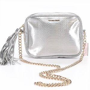 NWT Victoria's Secret Metallic, Chain Shoulder Bag